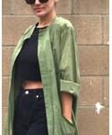VINTAGE | (Collarless jacket)