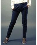 AVIREX | 【In Red掲載アイテム】avirex/ アヴィレックス / SATIN STRETCH SIDE POCKET PANTS/ サテン ストレッチ サイドポケット パンツ(カーゴパンツ)