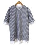 FFIXXED STUDIOS DOUBLE DANIEL NAVY WHITE STRIPE(Tシャツ・カットソー)