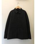 SHINYA KOZUKA AW16 SAMPLE 1/3 SET IN SLEEV SHIRT BLACK(シャツ・ブラウス)