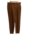 tim. 4tucks tapered pants BROWN(スラックス)