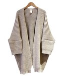 O project KNITTED CARDIGAN NATURAL(カーディガン)