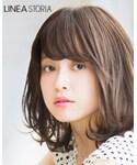 Linea storia   天使の四季のボブ #ミックスマロンプリン(Wig)