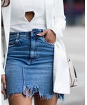 ZARA | (Denim skirt)
