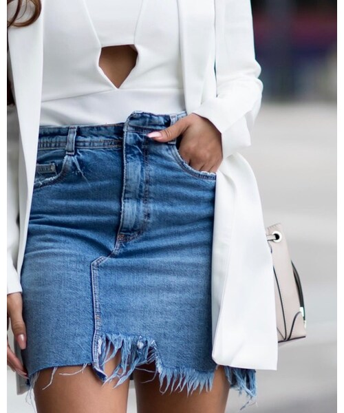 ZARA「Denim skirt」