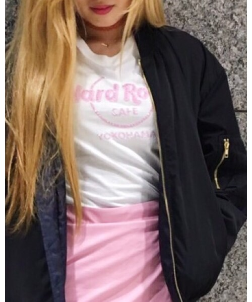 Hard Rock Cafe(ハードロックカフェ)の「PINK LOGO WHITE(Tシャツ・カットソー)」