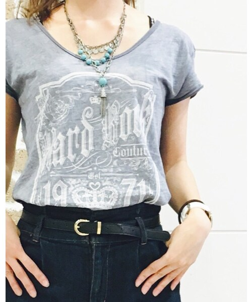 Hard Rock Cafe(ハードロックカフェ)の「couture split back tee(Tシャツ・カットソー)」