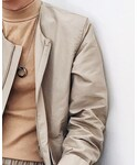 COS   (Collarless jacket)