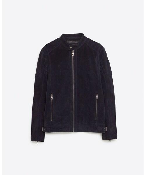 ZARA「Collarless jacket」