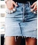 forte couture | (Denim skirt)