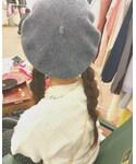 ヘアアレンジ✂️ | ヘアアレンジ✂️(ハンチング・ベレー帽)