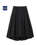 GU | ステップドヘムフレアスカート(スカート)