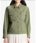 UNIQLO | ミリタリーシャツジャケット(ミリタリージャケット)