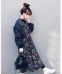 Lisa onlinestore | ボリュームスリーブ・ショートMA-1【RN424795】(ミリタリージャケット)