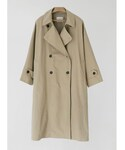 after monday   paper texture washing trench coat