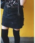 American Eagle | (Denim skirt)