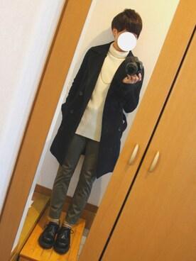けいさんの「【STUDIOUS】カシミヤシャギートレンチコート(STUDIOUS:Lab)」を使ったコーディネート
