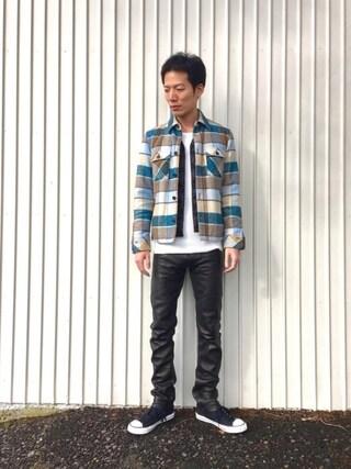 「レザーカジュアルパンツ(The Changeling)」 using this kakuhou looks