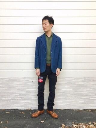 「80s デニムテーラード(Wrangler)」 using this kakuhou looks