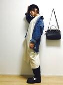 osonoさんの「■忽那汐里さん着用■ピグメントロングTシャツ【niko and ...】(niko and...|ニコアンド)」を使ったコーディネート