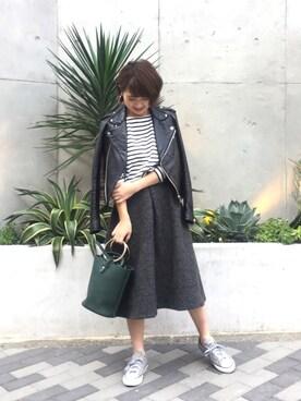 LIFE's堀江店|YUKO SAKAGUCHI さんの「レザーライダースジャケット(TODAYFUL|トゥデイフル)」を使ったコーディネート