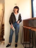 YUKO SAKAGUCHI さんの「レザーウッドサボ(TODAYFUL|トゥデイフル)」を使ったコーディネート