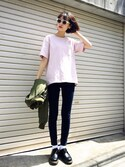 「FOREVER 21 Mid-Rise Skinny Jeans(Forever 21)」 using this N looks