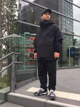 EN ROUTE GINZA|H.Satoさんのキャップ「RPLC(レプリカ) WARPED LOGO CAP(EN ROUTE|アンルート)」を使ったコーディネート