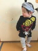♡kikka♡さんの「ベーシックテレコレギンス(petit main|プティマイン)」を使ったコーディネート