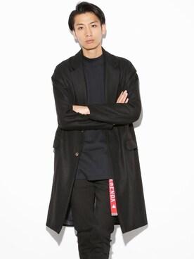 LEGENDA|LEGENDA_TOKYOさんの「ルーズシルエットウールチェスターコート(LEGENDA|レジェンダ)」を使ったコーディネート