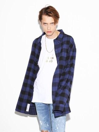LEGENDA|LEGENDA_TOKYOさんの「OVER SIZED ブロックチェックシャツ(LEGENDA|レジェンダ)」を使ったコーディネート