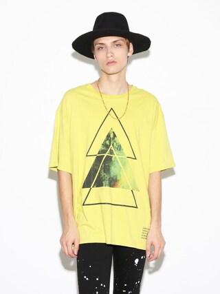 LEGENDA|LEGENDA_TOKYOさんの「OVERLAP SPACE TRIANGLE BIG クルーネックTシャツ(LEGENDA|レジェンダ)」を使ったコーディネート