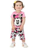 BABYDOLL(ベビードール)さんの「Disney(ディズニー)ミッキー&ミニー総柄セットアップ(Tシャツ+ハーフパンツ2点セット)9152K(BABYDOLL ベビードール)」を使ったコーディネート