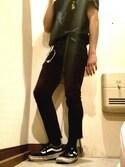 Shouta Fujimuraさんの「VANS ヴァンズ OLD SKOOL オールドスクール V36CL CVS BLACK(VANS バンズ)」を使ったコーディネート