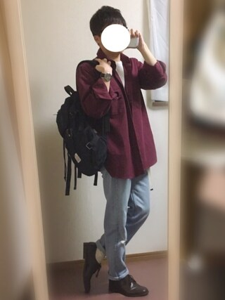 ぴろ〆さんの「Tabio MEN/メンズ 3×1リブベタショートソックス(靴下屋|クツシタヤ)」を使ったコーディネート