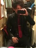 Yu-keyさんの「MULTI COLOR TRIANGLE TIEBAR/ 170901 250(Paul Smith|ポール・スミス)」を使ったコーディネート