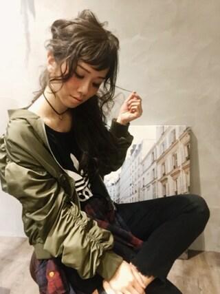 SHIORI HIRAI◡̈さんの「【adicolor】オリジナルス タンクトップ[LOOSE TREFOIL TANK](adidas|アディダス)」を使ったコーディネート