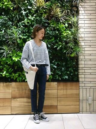 MILKFED. AT HEAVEN27 名古屋|伊藤有希さんの「2WAY TOTE BAR(トートバック/ロゴ)(MILKFED.|ミルクフェド)」を使ったコーディネート