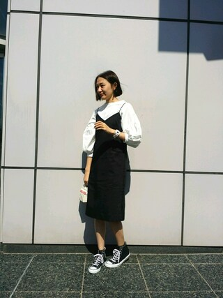 MILKFED. AT HEAVEN27 名古屋|伊藤有希さんの「CAMI DRESS(MILKFED.|ミルクフェド)」を使ったコーディネート