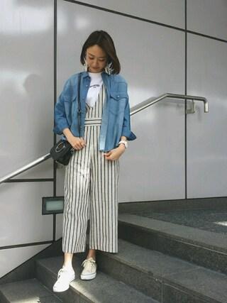 MILKFED. AT HEAVEN27 名古屋|伊藤有希さんの「V-NECK JUMPSUIT(MILKFED.|ミルクフェド)」を使ったコーディネート