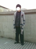 Kaitoさんの「MEN コットンカシミヤクルーネックセーター(長袖)(ユニクロ|ユニクロ)」を使ったコーディネート