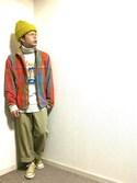 深堀 海斗さんの「CONVERSE コンバース CANVAS ALL STAR J OX キャンバス オールスター ジェイ オックス MUSTARD(CONVERSE|コンバース)」を使ったコーディネート