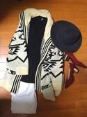 mocoさんの「MEN ラムVネックセーター(長袖)(ユニクロ|ユニクロ)」を使ったコーディネート