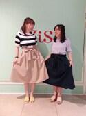 Yuiさんの「リボン付きハイウエストスカート(ViS|ビス)」を使ったコーディネート