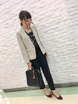 ViS 本厚木ミロード|Yuiさんの「ノーカラーコンパクトジャケット(ViS)」を使ったコーディネート