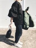 ぺこさんの「【THE CASE】TSUKUSHI/ Leather mini shoulderbag(THE CASE|ザケース)」を使ったコーディネート