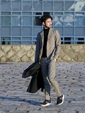 EDIFICE TOKYO 渋谷店|TERAさんのテーラードジャケット「◇FUNCTION MOBILE プリントジャケット(EDIFICE|エディフィス)」を使ったコーディネート