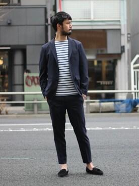 EDIFICE TOKYO 渋谷店|TERAさんのテーラードジャケット「◇oberkampfメランジトロピカルジャケット(EDIFICE|エディフィス)」を使ったコーディネート