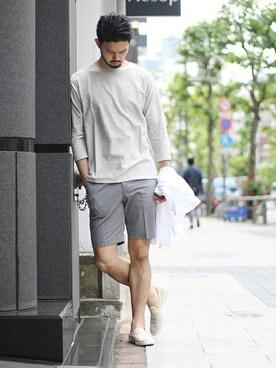 EDIFICE TOKYO 渋谷店|TERAさんのスリッポン「RIVIERAS / リビエラ コットンシャンブレーCollege(Rivieras|リビエラ)」を使ったコーディネート