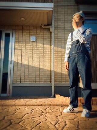 しょーごさんの「ドライイージーケアオックスフォードシャツ(半袖)(ユニクロ|ユニクロ)」を使ったコーディネート